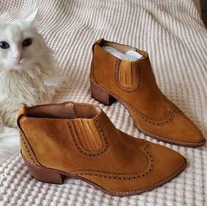 Madewell Grayson chelsea boots 8 amber brown